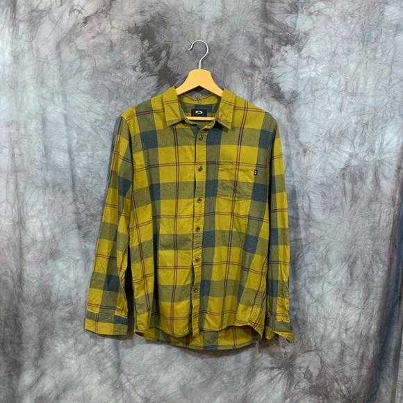 Oakley Other - Oakley plaid Flannel Button Up Shirt Medium